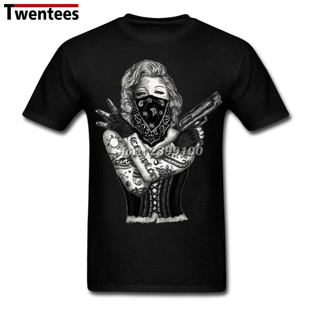 Xxxl Marilyn Monroe Gangster Guns Tattoo Tattoo T Shirt