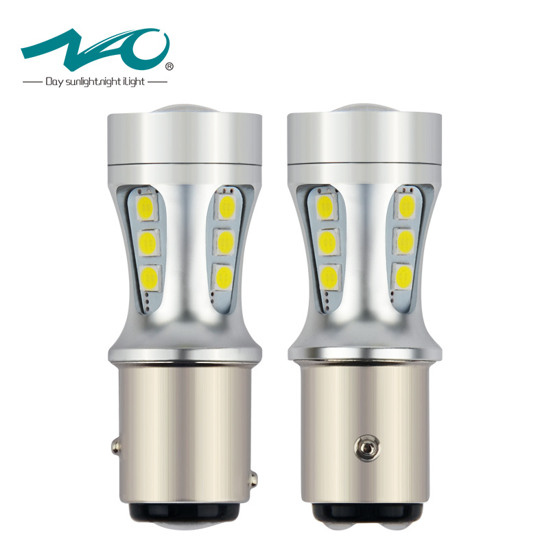 цена на 2x 1157 BAY15D led light P21/5W Car Signal Lamp 12V white 6000K 3030 Chip brake DRL indicator Reverse Rear light High Power bulb