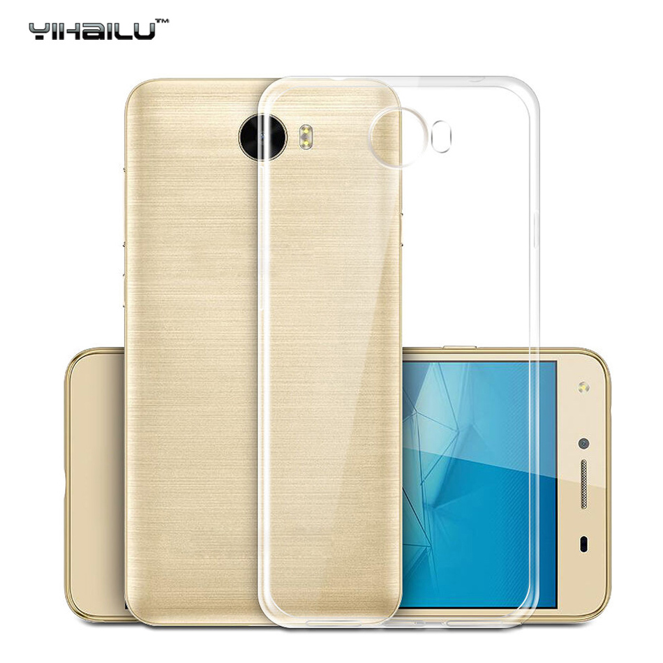 For Huawei Y5 II 2 Case For Huawei Honor 5 Case Cover Transparent Slim TPU Silicone Bac Cover For Huawei Y5II 5.0 inch Cases ...