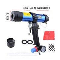 New Arrival Pneumatic Caulking Gun Set 310ML Glass Glue Air Rubber Guns Tool Hard Glue Gun With Watch Valve 19CM 23CM Adjustable