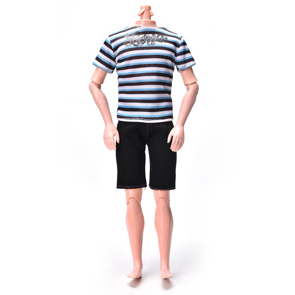 Sport Suit Boy Clothes for Ken DIY Summer Striped Print ...