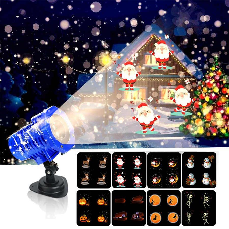 BEIAIDI 8 Modello HD Di Natale HA CONDOTTO LA Luce Del Proiettore Con Telecomando Esterno Animati di Halloween di Compleanno di Cerimonia Nuziale Del Partito Della Lampada di Proiezione