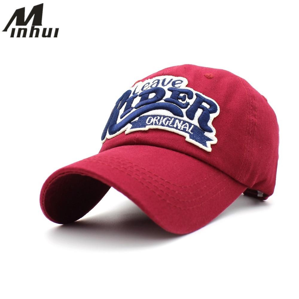 Minhui 2017 nuevos hombres ajustables sombrero casual gorra de béisbol  mujeres Bordado cartas vintage sombreros para a7cad79d621