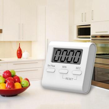 Ekran LCD cyfrowa kuchenna minutnik minutnik kuchenny do gotowania biuro sportowe 1PC J3 tanie i dobre opinie Kitchen Countdown Timer Mini Kuchnia Cyfrowy VAHIGCY