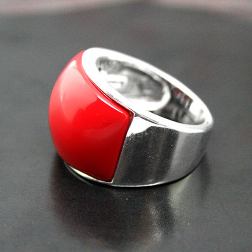 Hot sale new Style >>>>RARE RED CORAL 925 STERLING SILVER JEWELRY RING