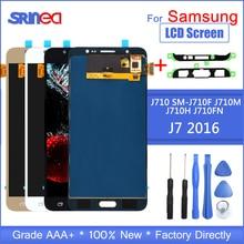 J710 LCD Dành Cho Samsung Galaxy Samsung Galaxy J7 2016 Màn Hình Và Bộ Số Hóa Cảm Ứng Điều Chỉnh Sm J710f J710m J710h + Keo Dụng Cụ