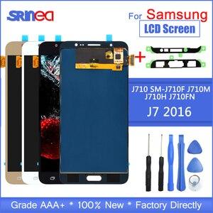 Image 1 - J710 Lcd Für Samsung Galaxy J7 2016 Display Und Touchscreen Digitizer Montage Einstellbare Sm J710f J710m J710h + Adhesive Werkzeuge