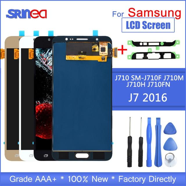 J710 Lcd Für Samsung Galaxy J7 2016 Display Und Touchscreen Digitizer Montage Einstellbare Sm J710f J710m J710h + Adhesive Werkzeuge