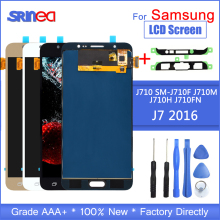 цены на J710 Lcd For Samsung Galaxy J7 2016 Display And Touch Screen Digitizer Assembly Adjustable Sm-J710f J710m J710h + Adhesive Tools  в интернет-магазинах