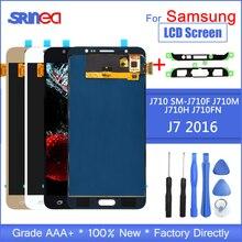 J710 Lcd Para Samsung Galaxy J7 2016 Display E Touch Screen Digitador Assembléia Ferramentas Ajustável Sm J710f J710m J710h + Adesivo