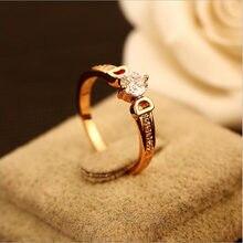 Качественные Роскошные d металлические кольца с большим цирконом