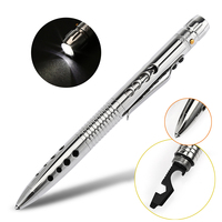 Laix T01 Self Defense Tactical Pen EDC Stainless Steel Survival Tool W LED Flashlight Knife SawTungsten