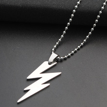 Movie Character Superhero Sign Natural Weather Lightning Necklace Stainless Steel Flash Symbol jewelry
