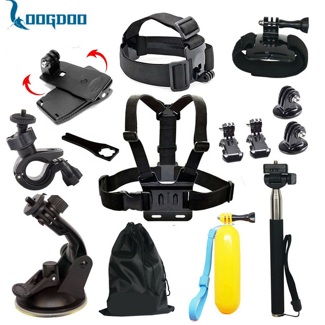 Gopro Accessories Set Helmet Harness Chest Belt Head Mount Strap for Go pro Hero5 5S 4 3+ Black Edition xiaomi yi camera GS01