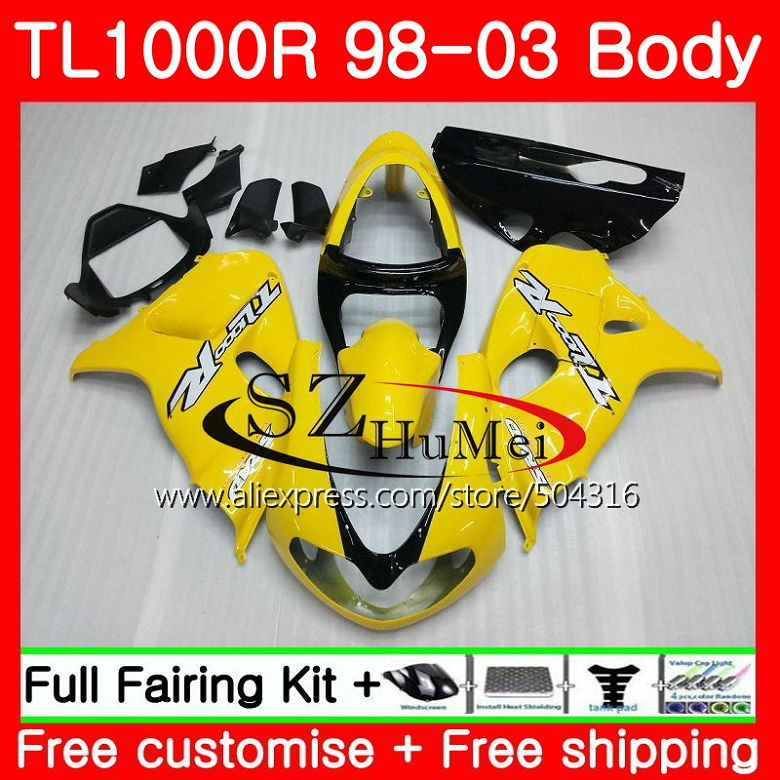 Combinations Body For Suzuki Tl1000 R Tl 1000 R Tl1000r Yellow Black 98 99 00 01 02 03 41sh5 Tl 1000r 1998 1999 2000 2001 2002 2003 Fairings