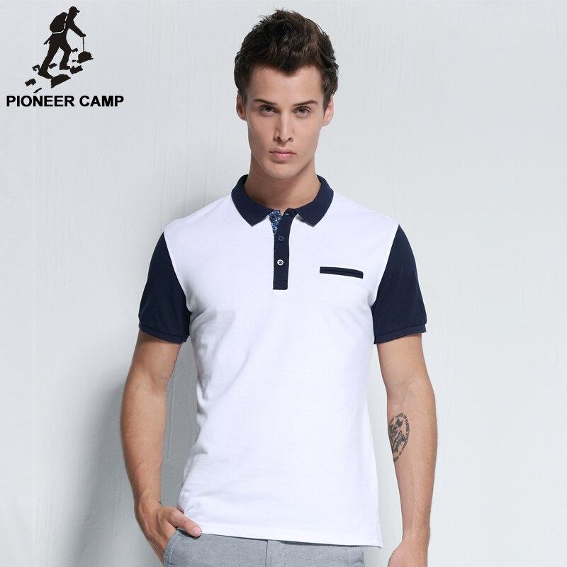 Pioneer campamento 2018 nueva moda hombres camisa polo marca ropa casual  algodón Hombre polos transpirable de alta calidad patchwork en Polo de La  ropa de ... 613da78ffcdba