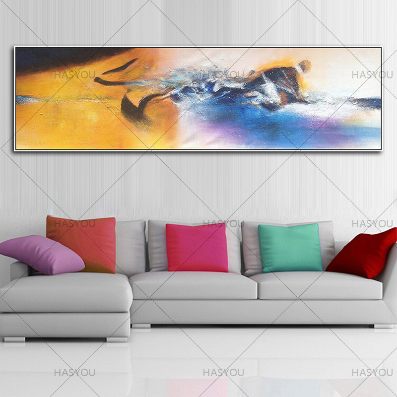 Elegant Large Long Canvas Picture Hand Made Abstract Oil Painting On Canvas  Handpainted Landscape Oil Paintings Modern Wall Art Picture Part 14