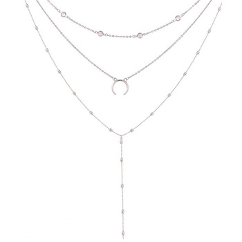 Chain Moon Choker Necklace  1