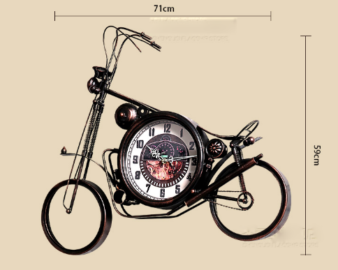 Retro Clock Home Decoration Personality Wall Hanging Motorcycle Model Clocks Wall Bar Restaurant Creative Clocks Wall OrnamentsRetro Clock Home Decoration Personality Wall Hanging Motorcycle Model Clocks Wall Bar Restaurant Creative Clocks Wall Ornaments