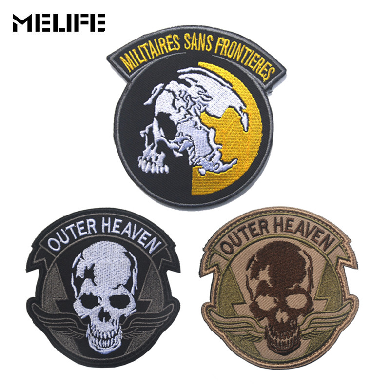 Souvenir Embroidered Patch Metal Gear Solid The Phantom Pain Outer Heaven Patch Militaires Sans Frontieres  Tactical Patches