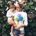Женщины С Длинным рукавом мороженое стиль Casual Футболка Пуловер НОВЫЙ 10 2016 осень милые девушки одежда tee