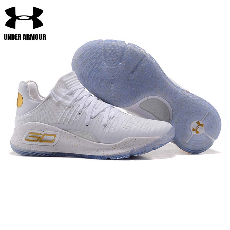 5abf4bcd9f388f Under Armour Basketball Shoes Curry 4 mens fashion sneakers low top  Training Boots zapatillas hombre deportiva breathable shoes