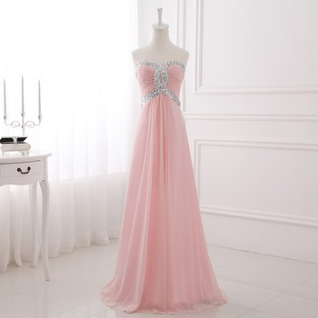 [Clearance Sale] Chiffon Long Evening Dress 2019 Simple Formal Women Party Wear Elegant Sweetheart 48 Hours Shipping