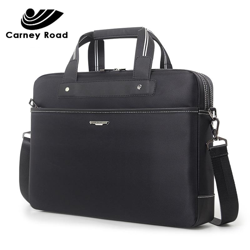 Brand Business Men's Office Bags 15.6 Inch Laptop Briefcase Bag Waterproof Oxford Men Handbag Male Messenger Shoulder Bag