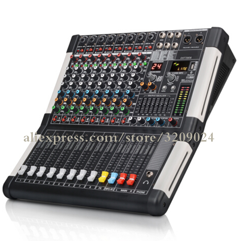 Digital Reverberation Stage Live Broadcast KTV Conference Microphone Wedding Professional Audio Suite Bluetooth 8 Channel Mixer