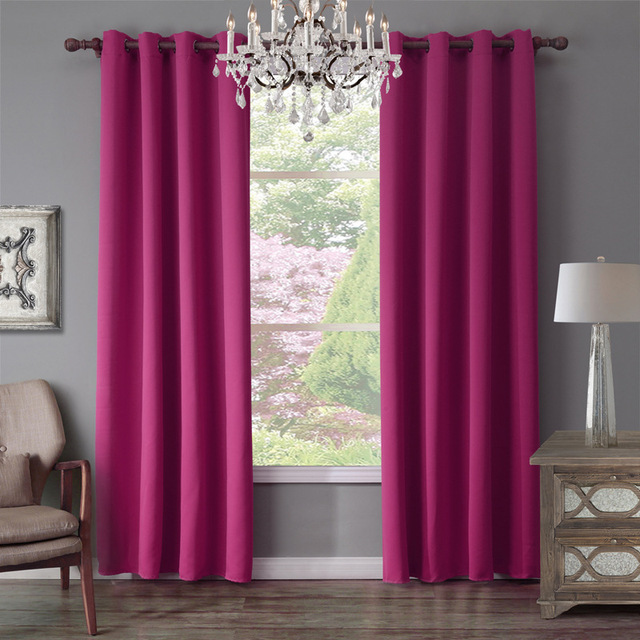 Xyzls Brand New Luxury Purple Curtains Shade Blackout Curtain Window Drape Cotinas For Home Bedroom Living Room Cafe
