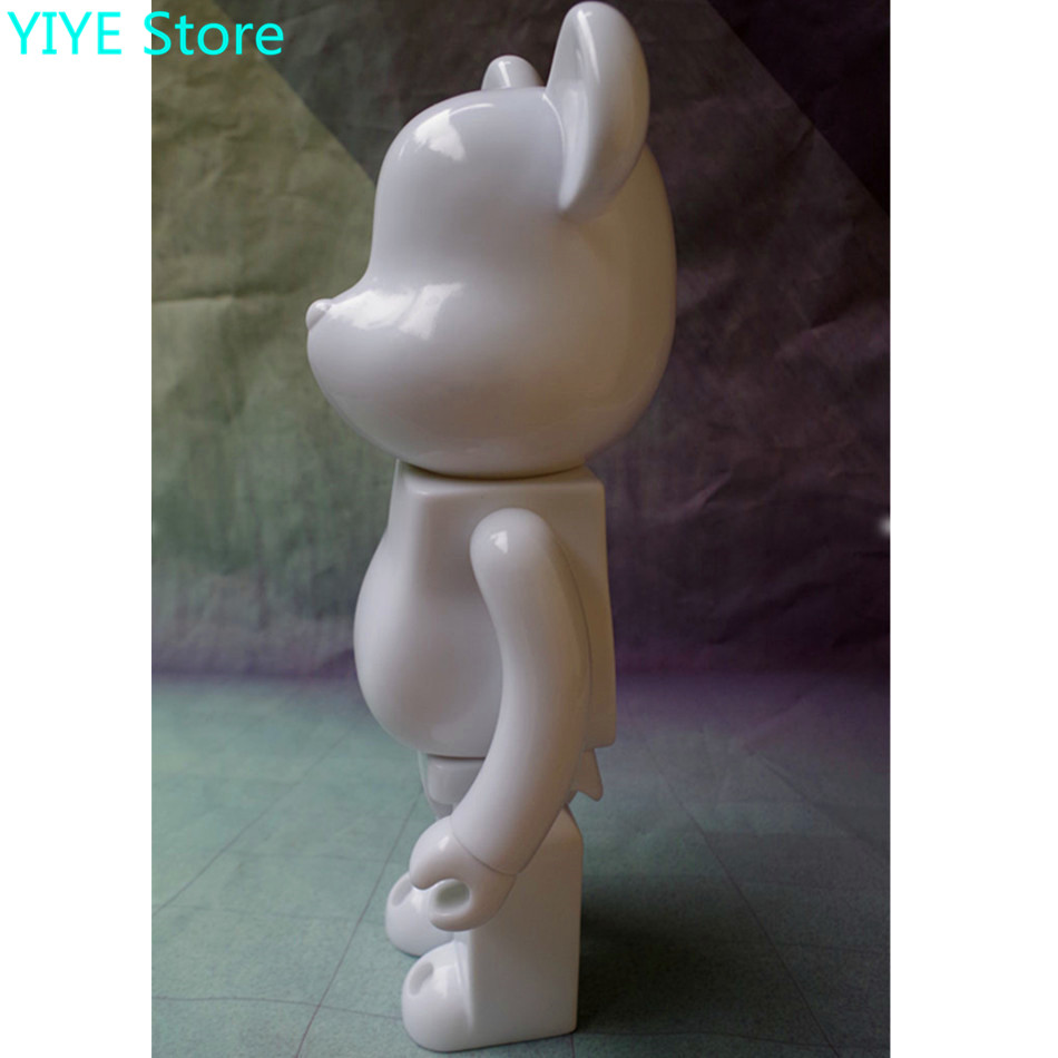 c5a78f97 400% bearbrick bear@brick DIY Paint PVC Action Figure White Color  Collection With Opp Bag Children gift AG108-in Action & Toy Figures from  Toys & Hobbies on ...