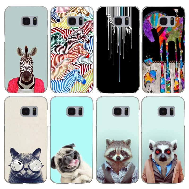 G432 Color Painting Zebra Animal Transparent Hard PC Case Cover For Samsung Galaxy S 3 4 ...