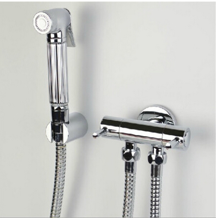 все цены на Bathroom Bidet faucet toilet bidet shower set Portable bidet spray with ABS chrome shower holder and 1.5m hose handheld bidet онлайн