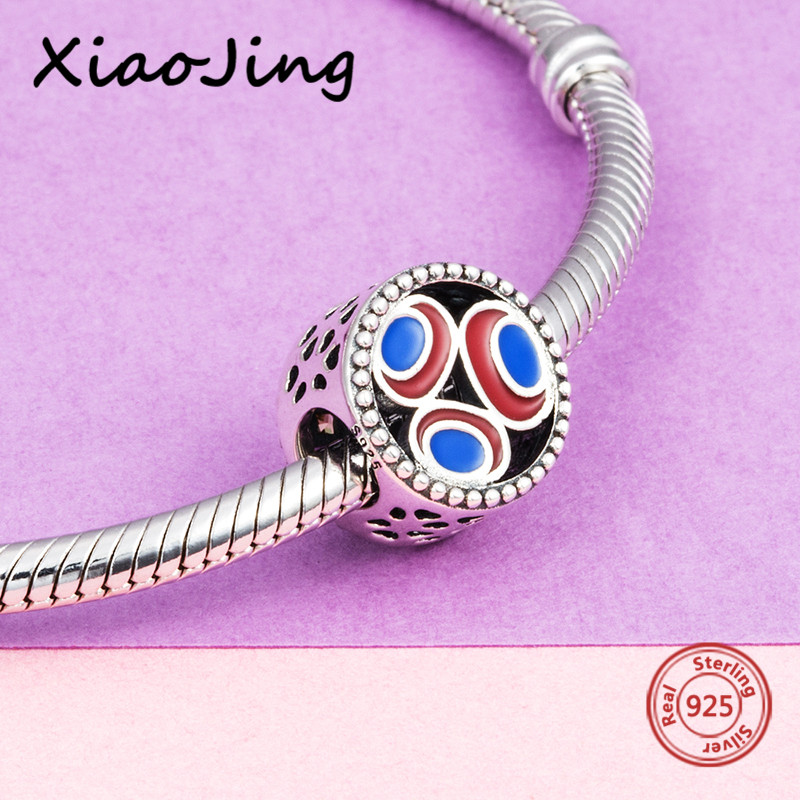 2018 new 925 sterling silver Beads with enamel Fit Authentic pandora charm Bracelets Jewelry accessories making for men Gifts