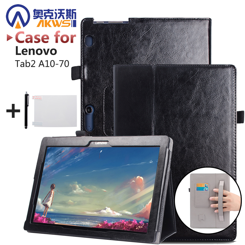 New Business Pu Leather Stand Case For Lenovo Tab 2 A10-70 Cover Shield tab2 A10-70F A10-70L A10 70 Tablet With Hard Shell for lenovo tab2 a10 70f smart flip leather case cover for lenovo tab 2 a10 70 a10 70f a10 70l tablet 10 1 with screen protector