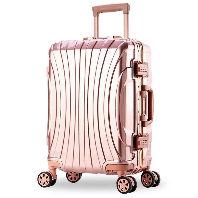 20242628inch Aluminum alloy frame business trip travel trolley suitcase carry on luggage Zipper/mirror/matte board suitcase free shipping yarbo gy 8006 occ f occ pure copper 75 ohm digital cable hifi digital audio cable with gold plated rca plug