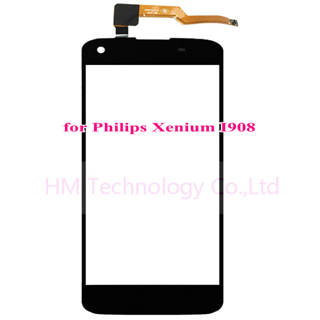 "5.0"" Black TP for Philips Xenium I908 Touch Screen Digitizer Glass Panel Sensor No LCD Phone Replace Part Free Shipping+Tools"