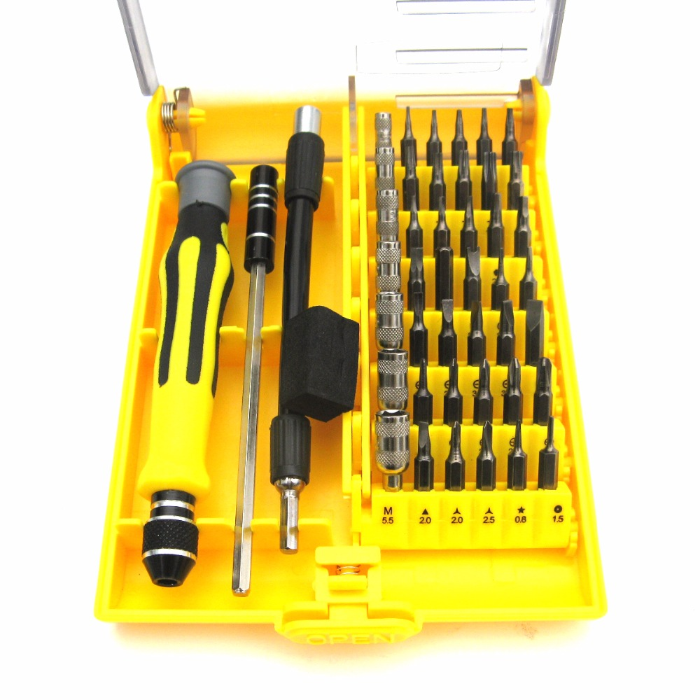 45 in 1 Multi-Bit Repair Tool Kit Set Torx Screw Drivers Electronics PC portable high quality 53in1 multi bit repair tools torx screwdrivers kit set for electronics pc laptop ver54