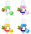 10 Pcs Baby Pacifier Fresh Food Milk Nibbler Feeder Kids Nipple Feeding Safe Baby Supplies Nipple Teat Pacifier Bottles