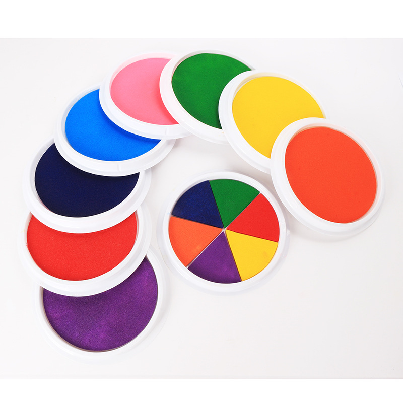 8 Colors DIY Finger Painting Drawing Toy Colored Craft Ink Pad Colors Stamps Paint  Inkpad Non-Toxic Baby Safe