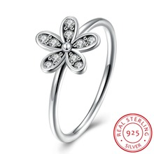 Visisap Five leaf flowers Rings for women Luxury DIY ring Pure 100% 925 Sterling silver jewelry wedding anel fine bijoux VSVR151