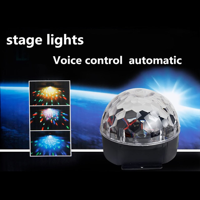 Mini RGB 20W 6 LED Crystal Magic Ball Stage Effect Lighting Lamp Bulb Party Disco Club DJ Light Show Lumiere US/EU Plug