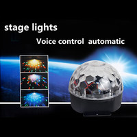 Mini RGB 20W 6 LED Crystal Magic Ball Stage Effect Lighting Lamp Bulb Party Disco Club