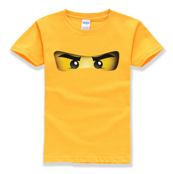 2018 heißer verkauf ninjago cartoon-muster 100% baumwolle Oansatz kurzarm t-shirts baby jungen kleidung hohe qualität sommer t-shirts