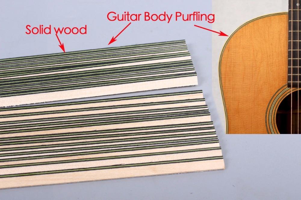 Bande de guitare bois Purfling reliure pièces de corps de guitare incrustation 640x6x1.2mm 167 #20 pcs