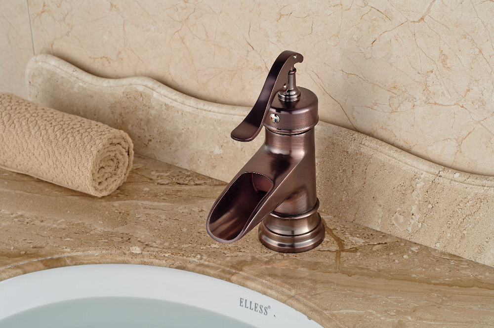 Luxury Single Handle Antique Brass Bathroom Faucet: Luxury Rose Golden Brass Basin Faucet Deck Mounted Sink