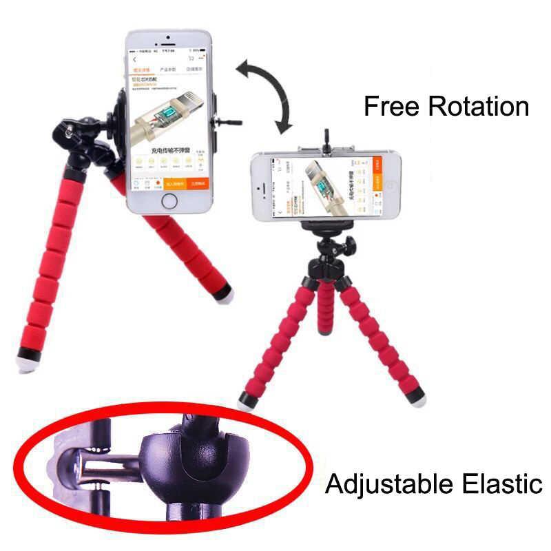 Mini trípode para iPhone YG300 J15, trípode para Mini cámara de proyector, soporte Flexible para teléfono con pulpo de esponja, soporte de Clip para teléfono