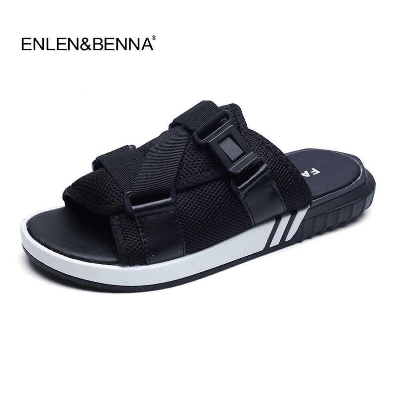 Nieuwe 2018 Zomer Eva Massage Mode Sandalen Strand Slippers Voor Heren Flip Flops Casual Patchwork Ademend Mannen Sandalias Hombre