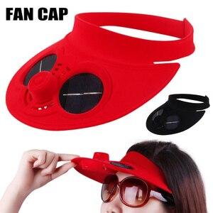 Горячая уличная бейсбольная кепка с охлаждающим вентилятором на солнечных батареях для путешествий и езды на велосипеде DO2