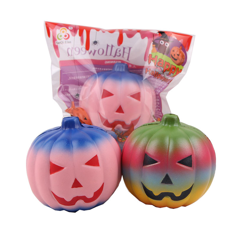 10cm rare squishy Wholesale  Halloween pumpkins Squishies Slow Rising Jumbo Kid Toys Soft  squeeze Xmas Gift Stress Reliever